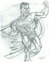 Superman in Pencil by FanBoy67