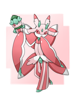 Pokemon : Lurantis and Fomantis
