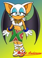Rouge in Tikals outfitcoloured by Robie-Chan