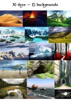 30 days - 15 backgrounds challenge by MsAiry