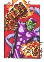 Color Super Skrull Sketchcard by ElfSong-Mat