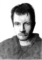 Gary Oldman pencil art by tuonenjoutsen
