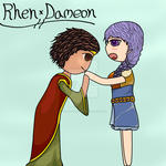 Greetings My Lady {Aveyond RhenxDameon Fanart} by Queen-of-Ice101