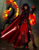 Valania, Rakdos' Black guard by Vengerin