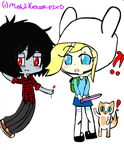 Fionna and marshal lee by mehlikescookiesXD