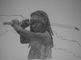 michonne by graphartist64