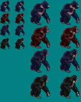 Sprite Stuff: King Kong throughout the Ages by SXGodzilla