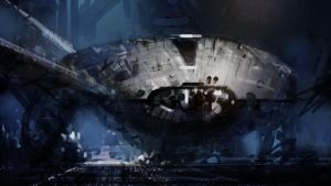 Ship in Hangar by steve-burg