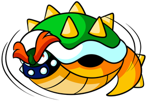 Commission - Bowser's Spinning Shell by JamesmanTheRegenold