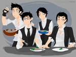 PoM!Humanized - Dinner by Mossygator