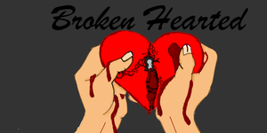 Colored Broken Hearted by cupkeeper00