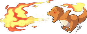 Charmander Used Flamethrower by TamarinFrog