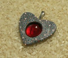 Retro Heart Glass Gem by Sweet2Spicy