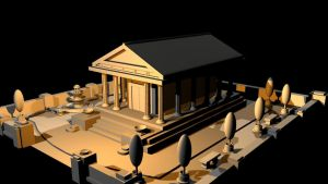 Greek Temple Final - View 1 by mhofever