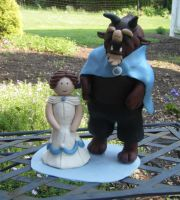 Belle and Beast Cake Topper by noezel7