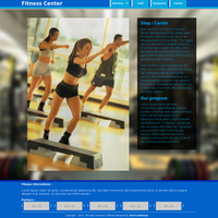 Fitness template - Step Cardio page by duduOmag