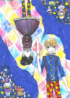 the harlequin and the circus princess by columbus1999