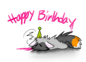 Happy birthday to meeee by Aquillic-Tiger
