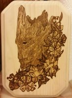 Woodburning - I Am Groot by Stepher17