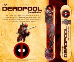 The Snowboard of Deadpool by Adder24