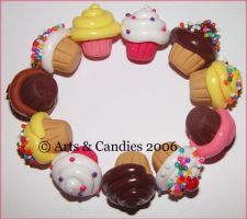 Original Cupcake bracelet by Ambient-Lullaby
