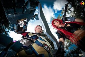 VI and Katarina : League of Legends Cosplay by AxelTakahashiVIII