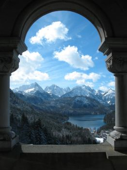 Neuschwanstein View by LiquidParaffin