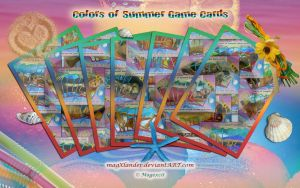 Game Cards - Colors of Summer II by magXlander