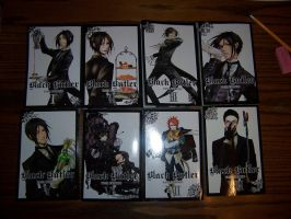 Black Butler Volumes 1, 2, 3, 4, 5, 6, 7, and 8 by purple-panda64