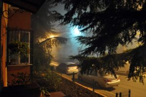Magical Foggy Night by magneticblue