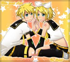 Rin and Len by AngieZu