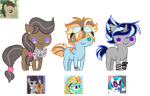 DrWhooves bred babies 1/3 (CLOSED) by Minn-co