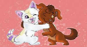 Iscribble Collab: Hugsies by Creativepup702
