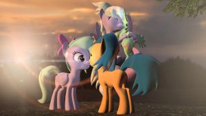 Meeting Flitter and Cloudchaser by Legoguy9875