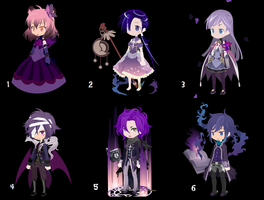 100 themed selfy adopts: day 7 Purple [OPEN] by AlbinoAdopts