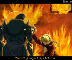 FMA - Don't Forget 3, Oct. 10 + VIDEO by WanderingDragon379