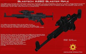 A280 blaster rifle tech readout [New] by unusualsuspex