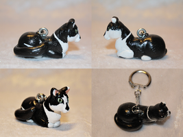 COMMISSION - Personalized kitty black and white by AnimalisCreations