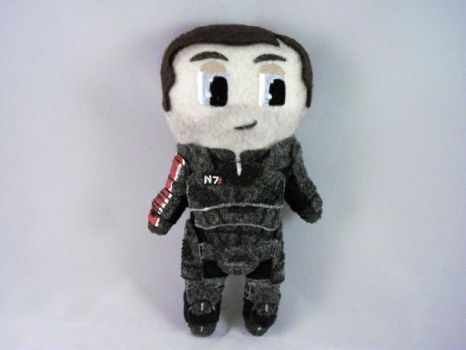 Plushie Commander Shepard by Pinka-Starlight