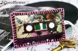Mixt Tape shape keychain by coco-flower