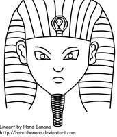Our Pharaoh Lineart by Hand-Banana