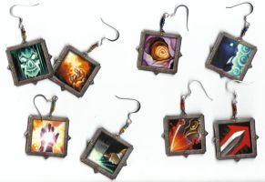 Warcraft Earrings by angermuffin