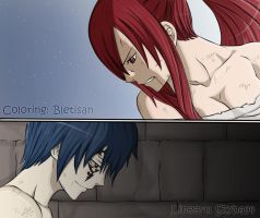 Erza and Jellal by Bletisan