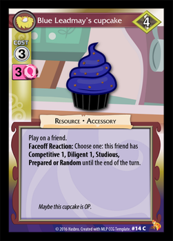 Blue Leadmay's cupcake - Resource by DialLiyon