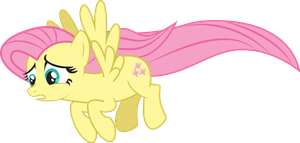 Fluttershy [Worried/In Flight] by Sunderbraze