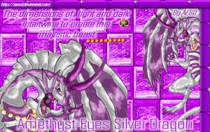 Amethyst-Eyes Silver Dragon  Wallpaper by AESD