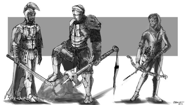Knights Sketches by Shawnold
