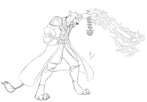 Master Xehanort Lion Line Art by GunZcon