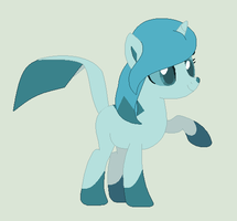 Glaceon Pony by MoonIight-Eevee