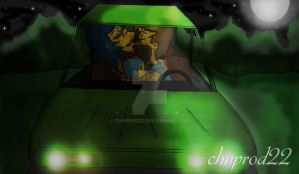 Homer and Marge - Lovemaking In Car by ChnProd22